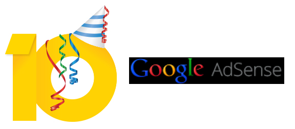 Google Adsense celebrates its 10th Anniversary, Have fun with a Game!