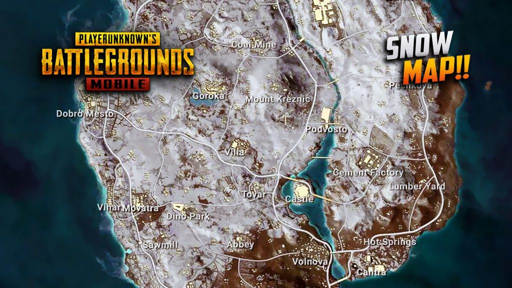Pubg Mobile To Release Snow Map Vikendi On December 20: PUBG Mobile Vikendi (Snow Map) Release Date, Minimap